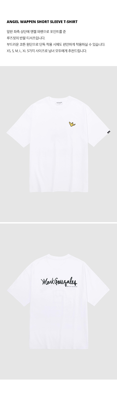 마크 곤잘레스(MARK GONZALES) 엔젤 와펜 반팔 티셔츠 화이트
