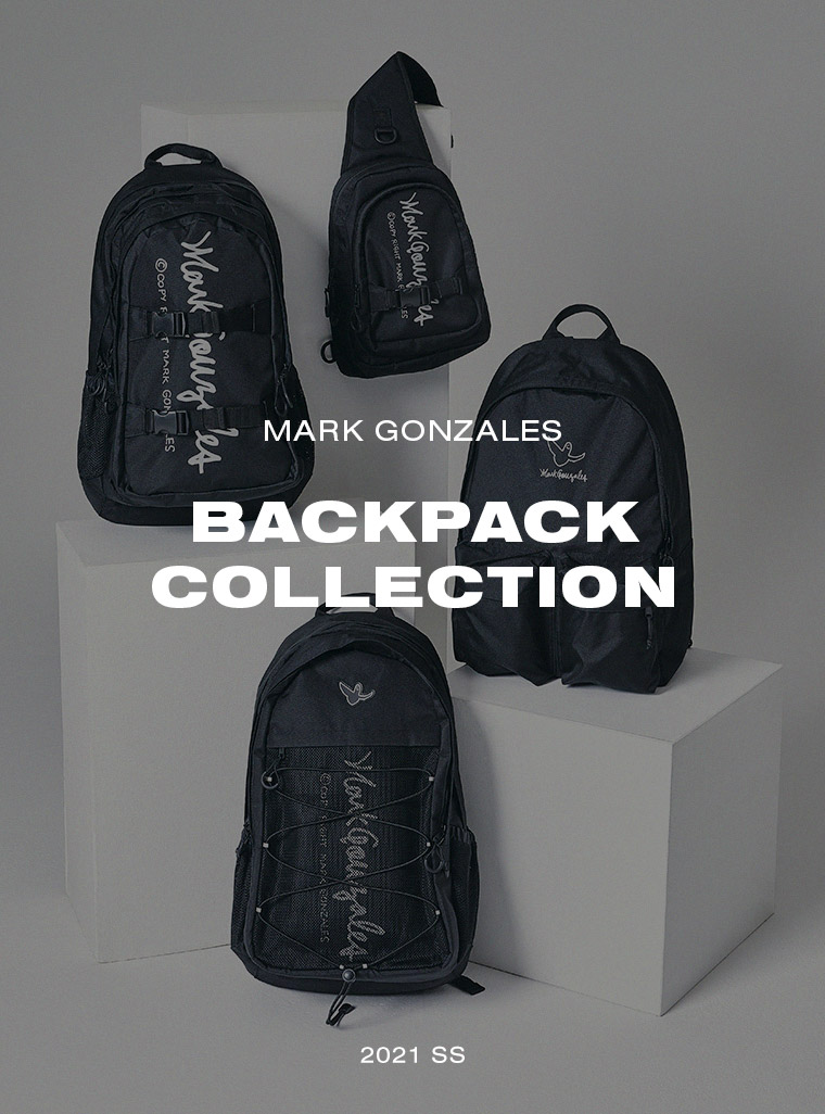 마크 곤잘레스(MARK GONZALES) 바인드 백팩 블랙