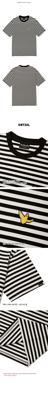 마크 곤잘레스(MARK GONZALES) 스트라이프 반팔 티셔츠 블랙