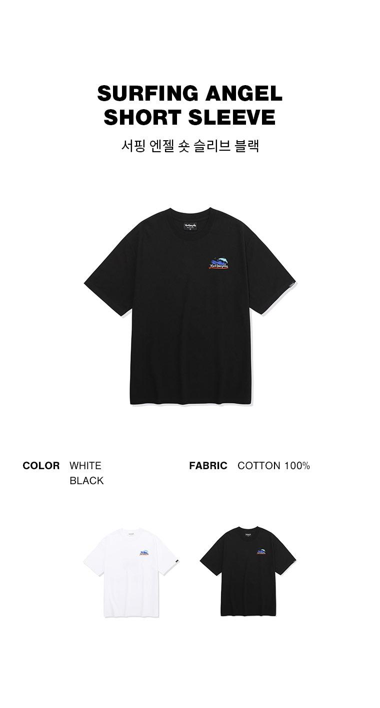 마크 곤잘레스(MARK GONZALES) 서핑엔젤 반팔 티셔츠 블랙