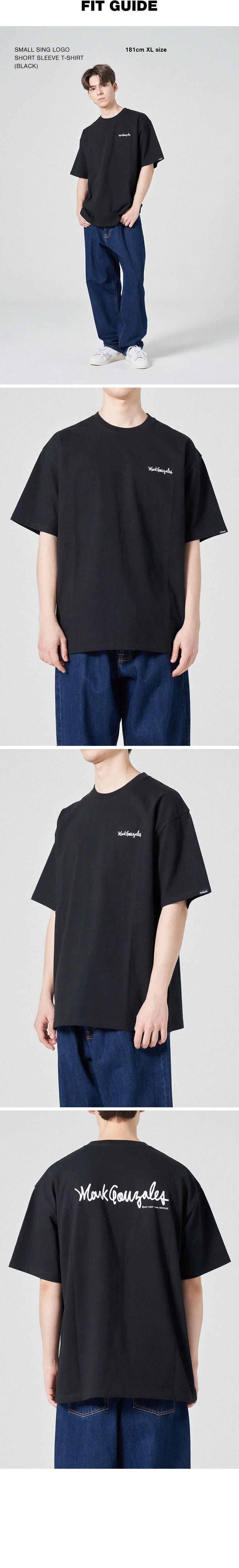 마크 곤잘레스(MARK GONZALES) 스몰 사인로고 반팔 티셔츠 블랙