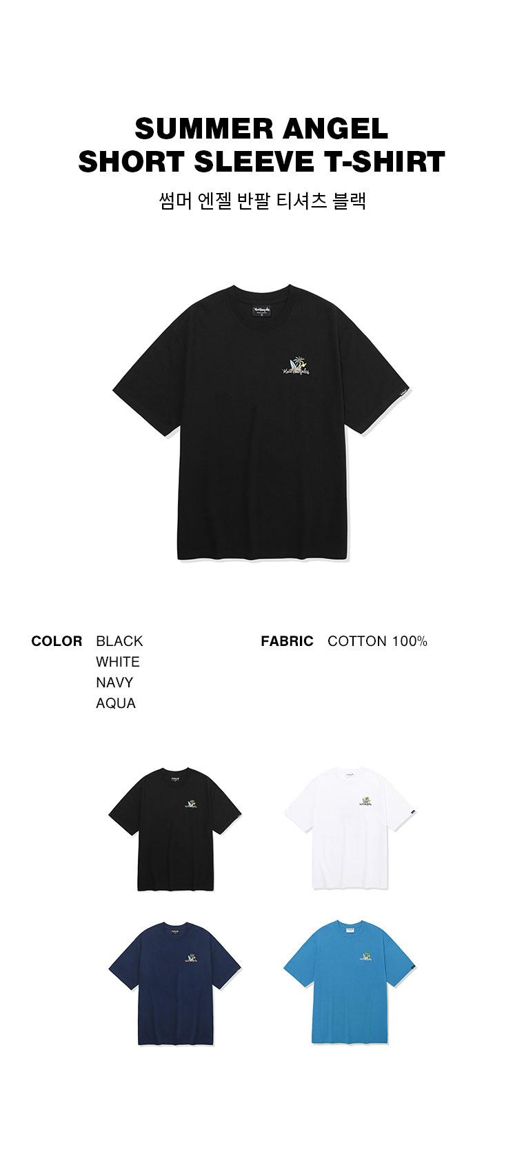 마크 곤잘레스(MARK GONZALES) 썸머 엔젤 반팔 티셔츠 블랙