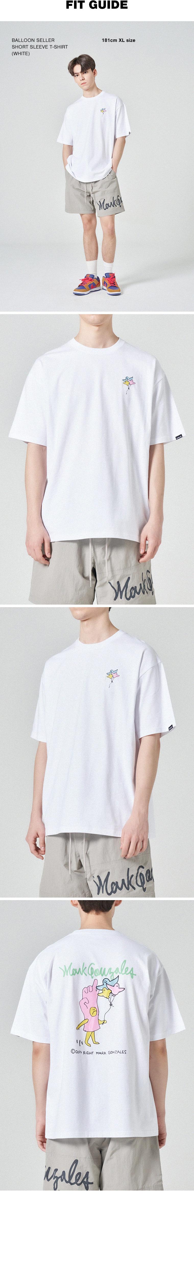 마크 곤잘레스(MARK GONZALES) 벌룬셀러 반팔 티셔츠 화이트