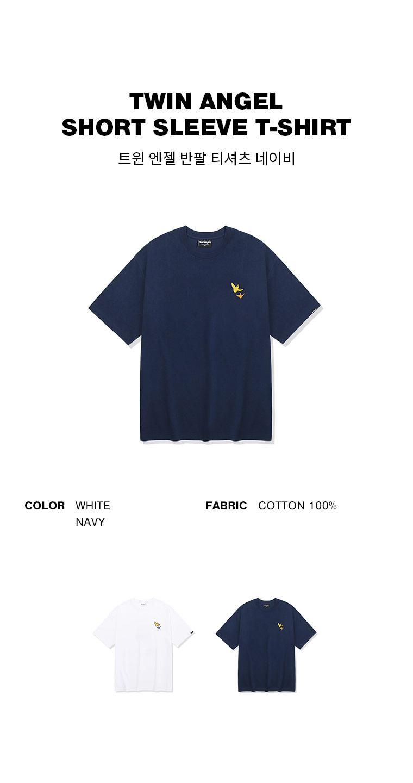 마크 곤잘레스(MARK GONZALES) 트윈엔젤 반팔 티셔츠 네이비