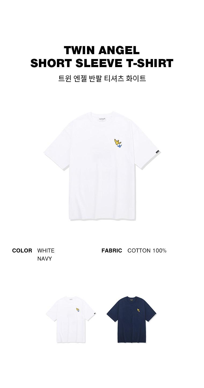 마크 곤잘레스(MARK GONZALES) 트윈엔젤 반팔 티셔츠 화이트