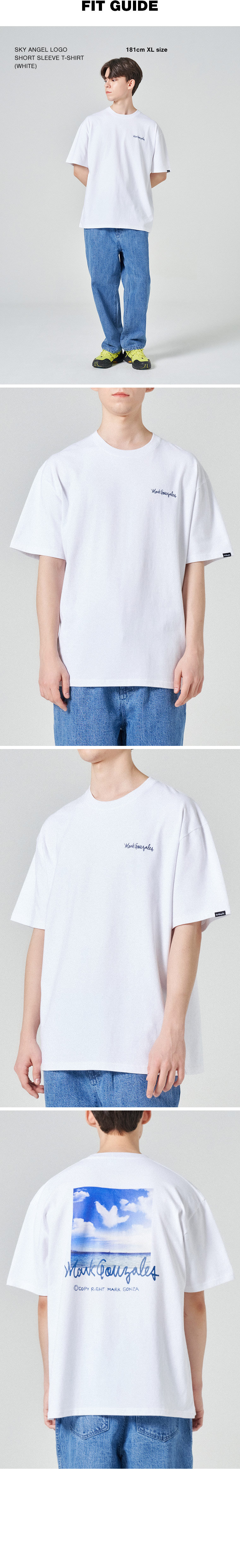 마크 곤잘레스(MARK GONZALES) 스카이 엔젤 로고 반팔 티셔츠 화이트