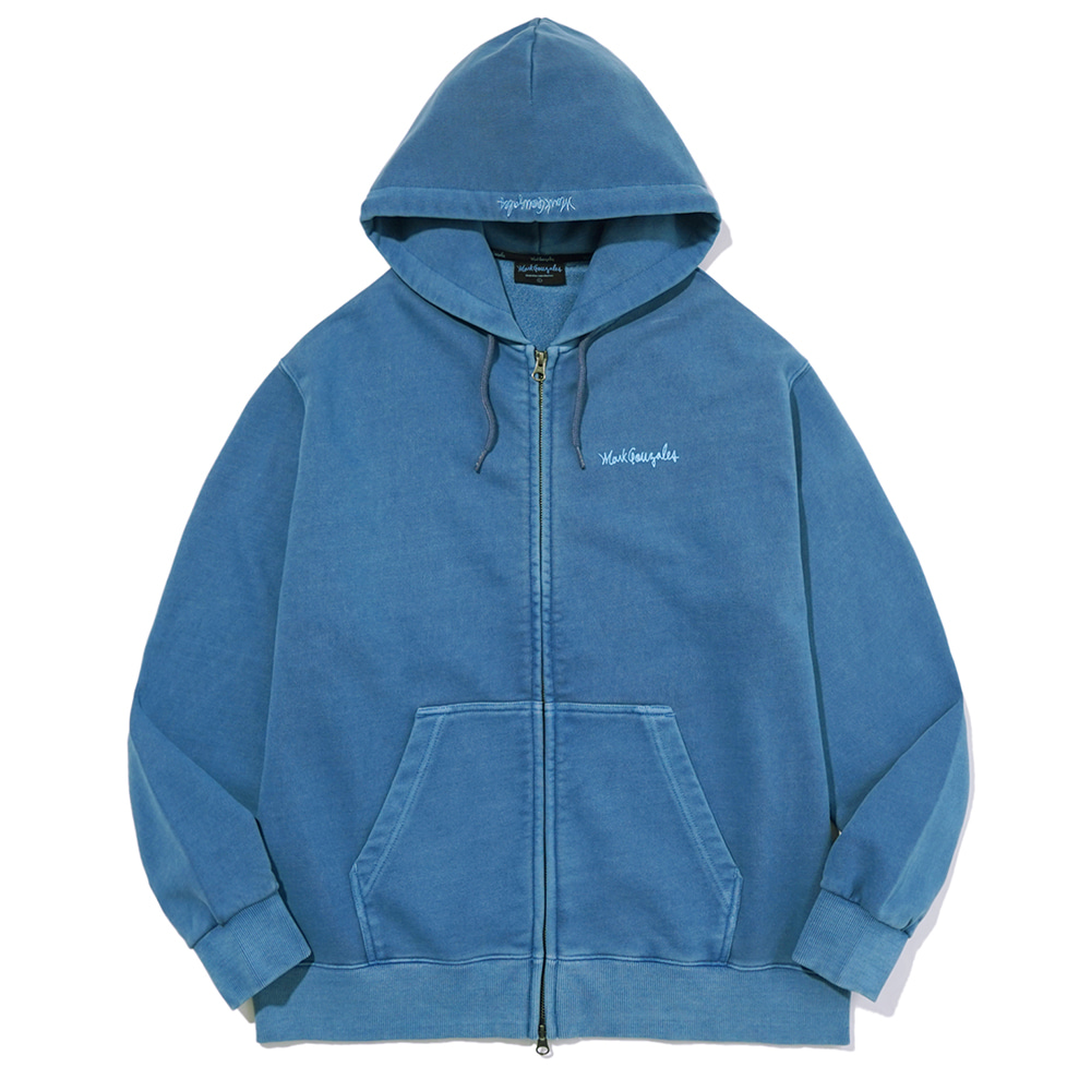 M/G SIGN LOGO ZIP UP HOODIE PIGMENT BLUE
