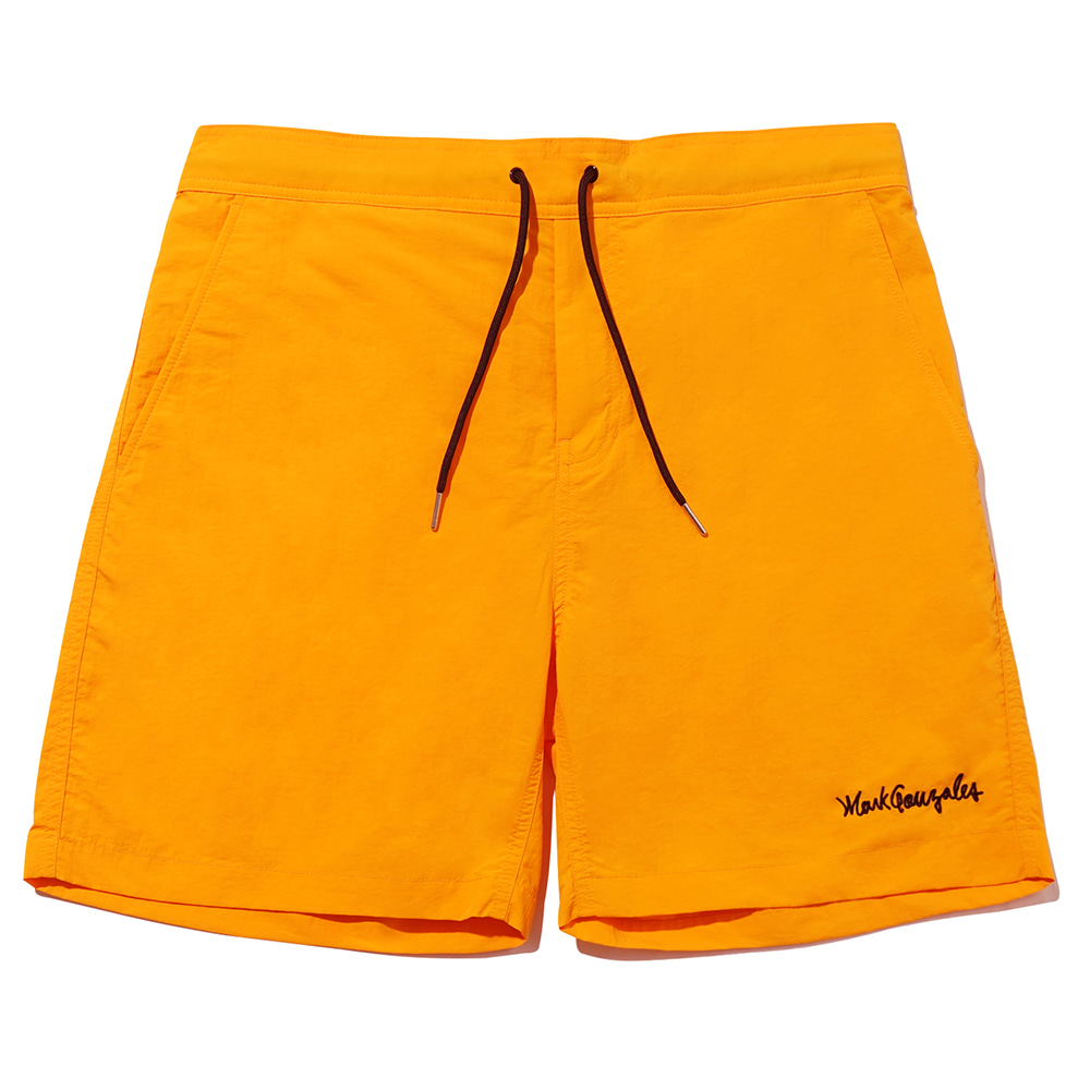 M/G SIGN LOGO BEACH SHORTS MUSTARD