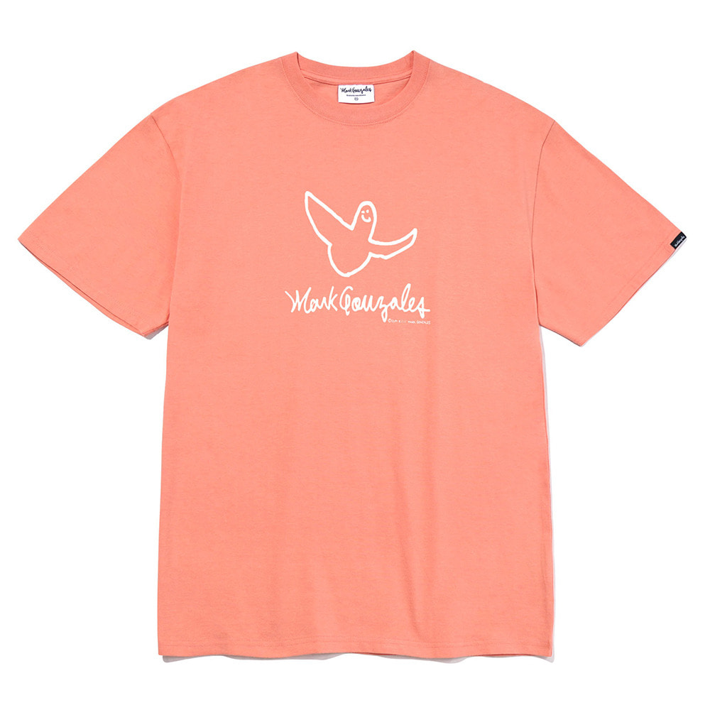 M/G ANGEL LOGO T-SHIRTS PEACH
