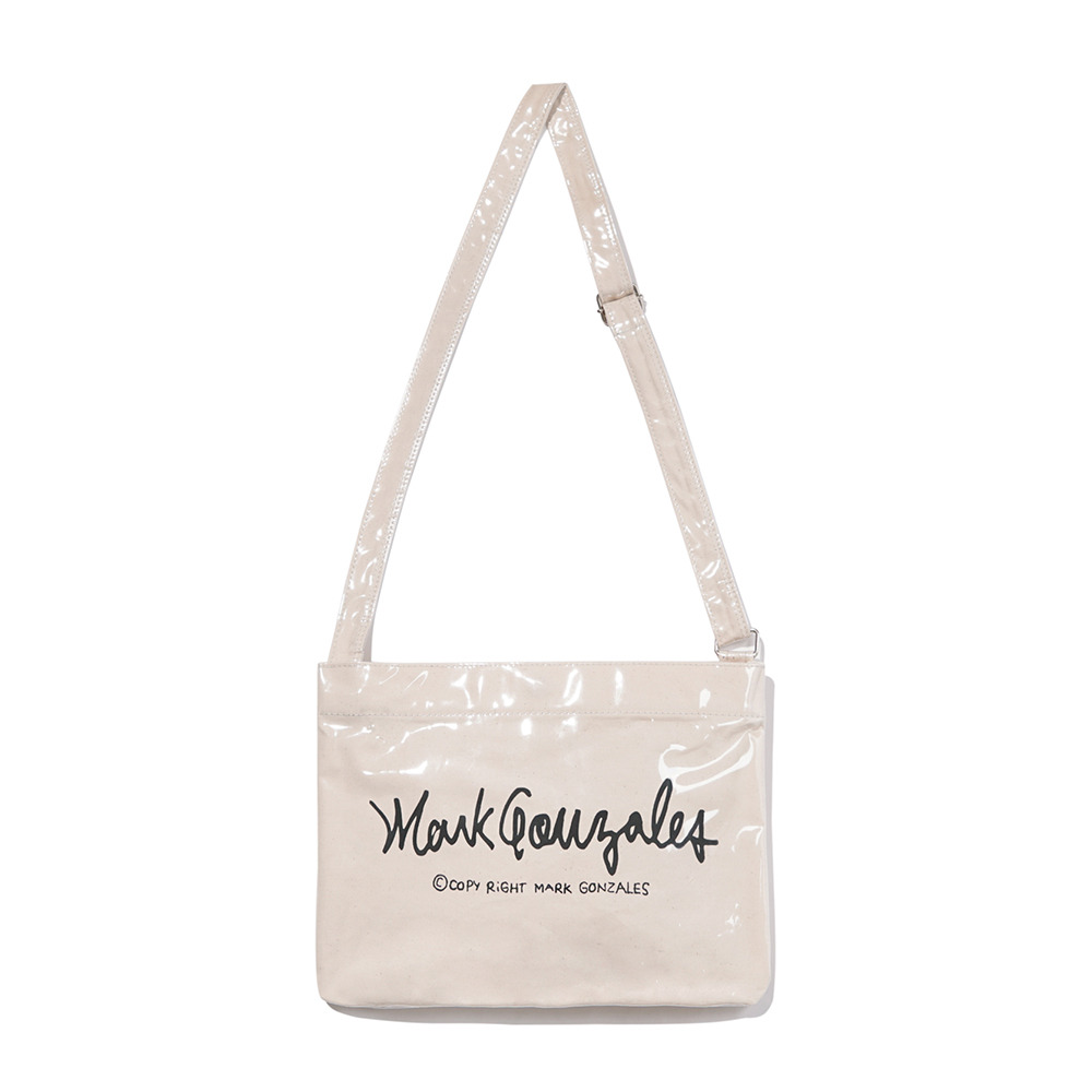 M/G SIGN LOGO CROSS  BAG (PVC) IVORY